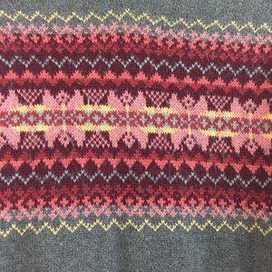 Eddie Bauer Sweaters - Eddie Bauer gray sweater colorful angora stripe